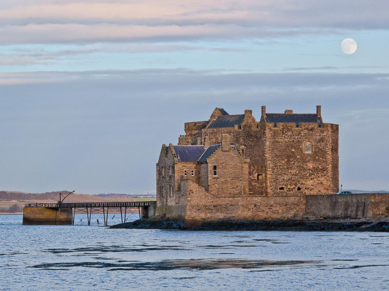 Moonrise over Blackness Castle